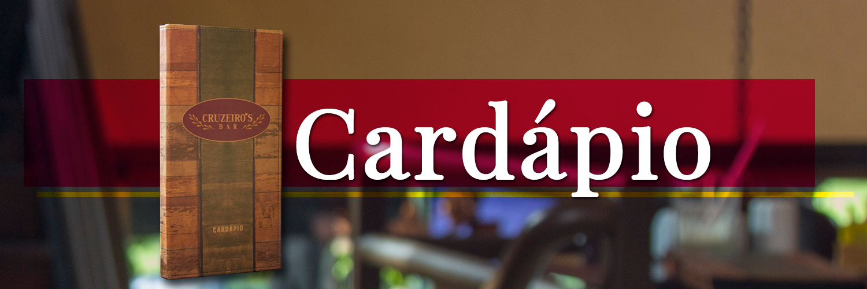 cardápio- Cruzeiro's Bar